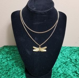 Jewelry - Rope Length Dragonfly Chain Necklace